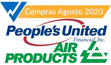 People´s United y Air Products and Chemicals. Compras de Agosto 2020