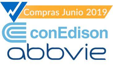 Consolidated Edison y Abbvie. Compras de Junio 2019 y análisis de carteras